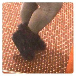 Shoes - Custom hand sewn furry boots.